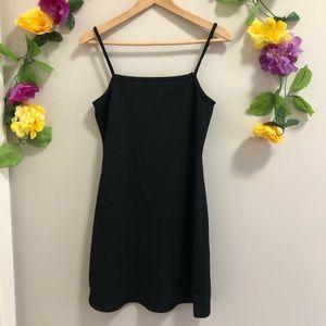 Vintage 90's Black Strappy Mini Dress
